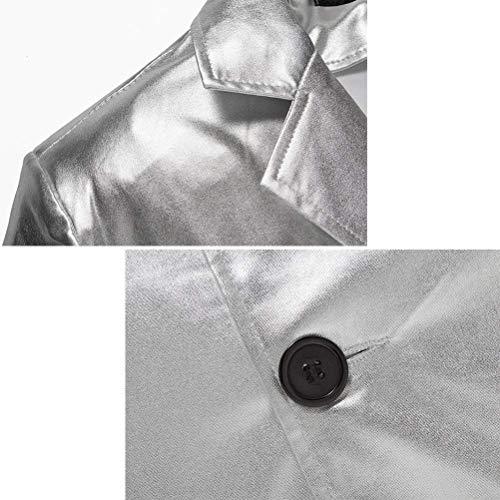 Giacca E Casual Slim Targogo Cappotto Pulsanti Stile Due Discoteca A Bianco Uomini Fit Oro Bronzing Abiti Gioventù Blazer Vintage Nero wwX0z