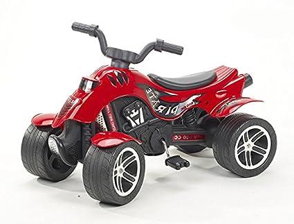 Falk 600 Pirate - Moto infantil de 4 ruedas, color rojo