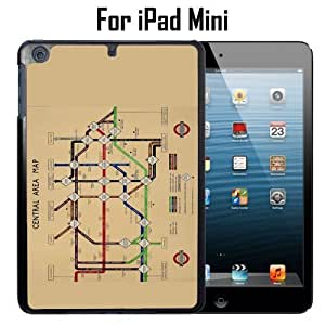 Vintage London Underground Map Custom Case/ Cover/Skin *NEW* Case for Apple iPad Mini - Black - Plastic Case (Ships from CA) Custom Protective Case , Design Case-ATT Verizon T-mobile Sprint ,Friendly Packaging - Slim Case