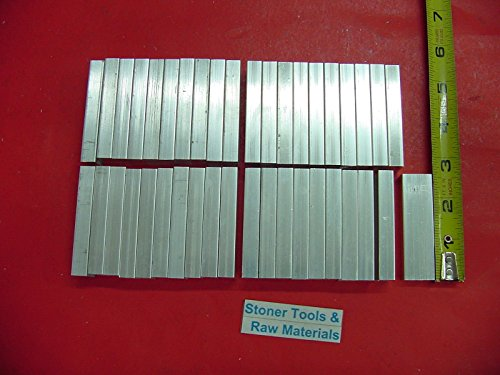 """40 Pieces 3//8/"""" X 3//4/"""" ALUMINUM 6061 FLAT BAR 2.5/"""" long .375/"""" Solid Mill Stoc"""