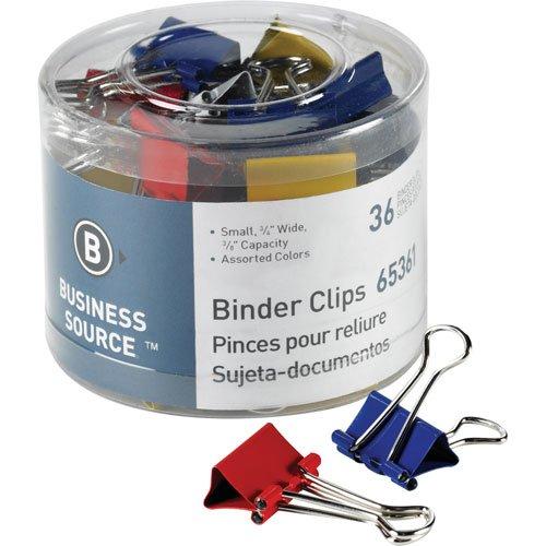 Binder Clips, Medium 1-1/4W, 5/8 Capacity, 24 per Pack, Asso