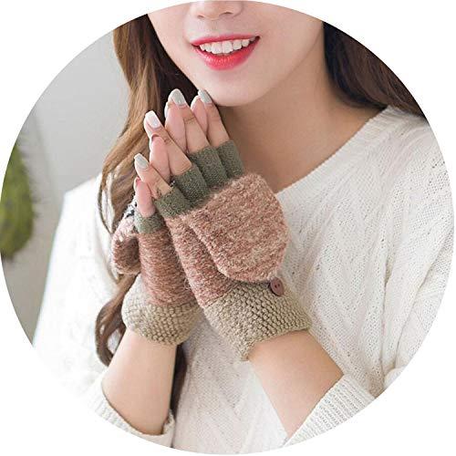 Winter Wool Gloves Thick Warm Mittens Girls Women Ladies Hand Wrist Warmer Winter Solid Ladies Fingerless Gloves Mitten