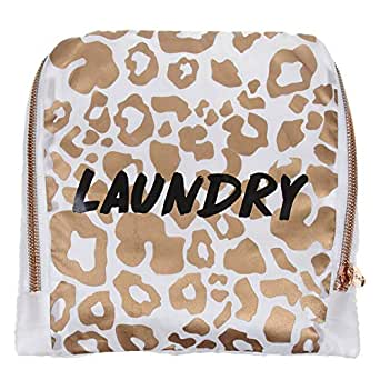 MIAMICA Leopard Travel Laundry Bag, Laundry, Rose Gold (Gold) - M31299