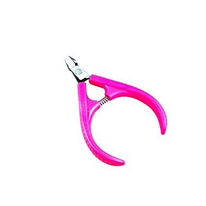 Profesional herramienta de nuevo de uñas uñas Cutícula Alicates Clipper cortador de borde shear rosa