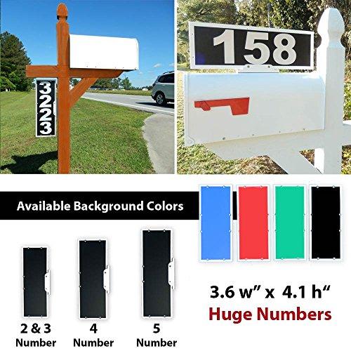 Vertical Mailbox Address Plaque, Reflective 911 Plate, Most Visible Mailbox Address Marker Money Can (Mailbox Address Topper)