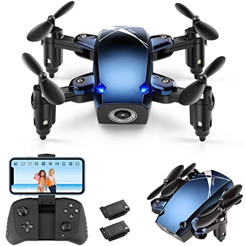 Foldable RC Mini Drone with Camera for Kids and Adults, HALOFUNO WiFi FPV Quadcopter with HD Camera for Beginner Indoor, 3D Flip, Altitude Hold Mode, One Key Take Off/Landing, APP Control