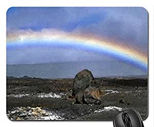 Coastal Rainbow 2 Mouse Pad, Mousepad (Rainbows Mouse Pad, Watercolor style) by icecream design