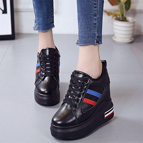 scarpe primavera donne di il libero 35 corrispondenza fondo scarpe scarpe sportive tempo e autunno GTVERNH periodo studenti aumentato black spesso qtBdZ
