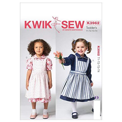 KWIK-SEW PATTERNS K3962 Toddlers Dress and Pinafore Sewing Template (Dress Pinafore Pattern)