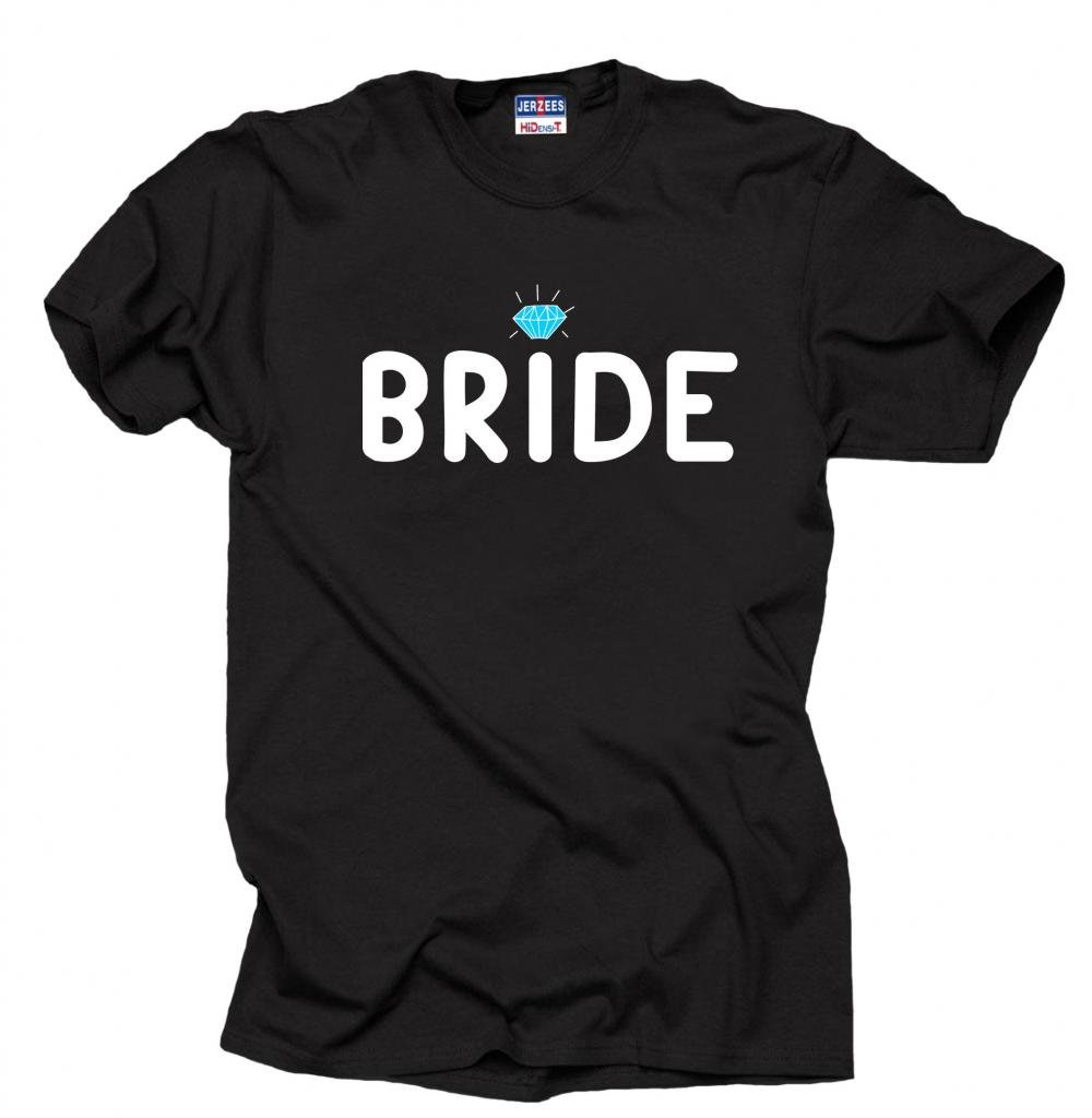 Bride Wedding Bridal Party T-shirt XXX-Large Black
