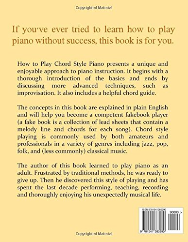How To Play Chord Style Piano Gerry Baird 9781541385290 Amazon