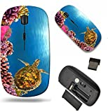 MSD Wireless Mouse Travel 2.4G Wireless Mice with USB Receiver, Noiseless and Silent Click with 1000 DPI for Notebook, pc, Laptop, Computer, mac Book Design: 9429354 Sunburst