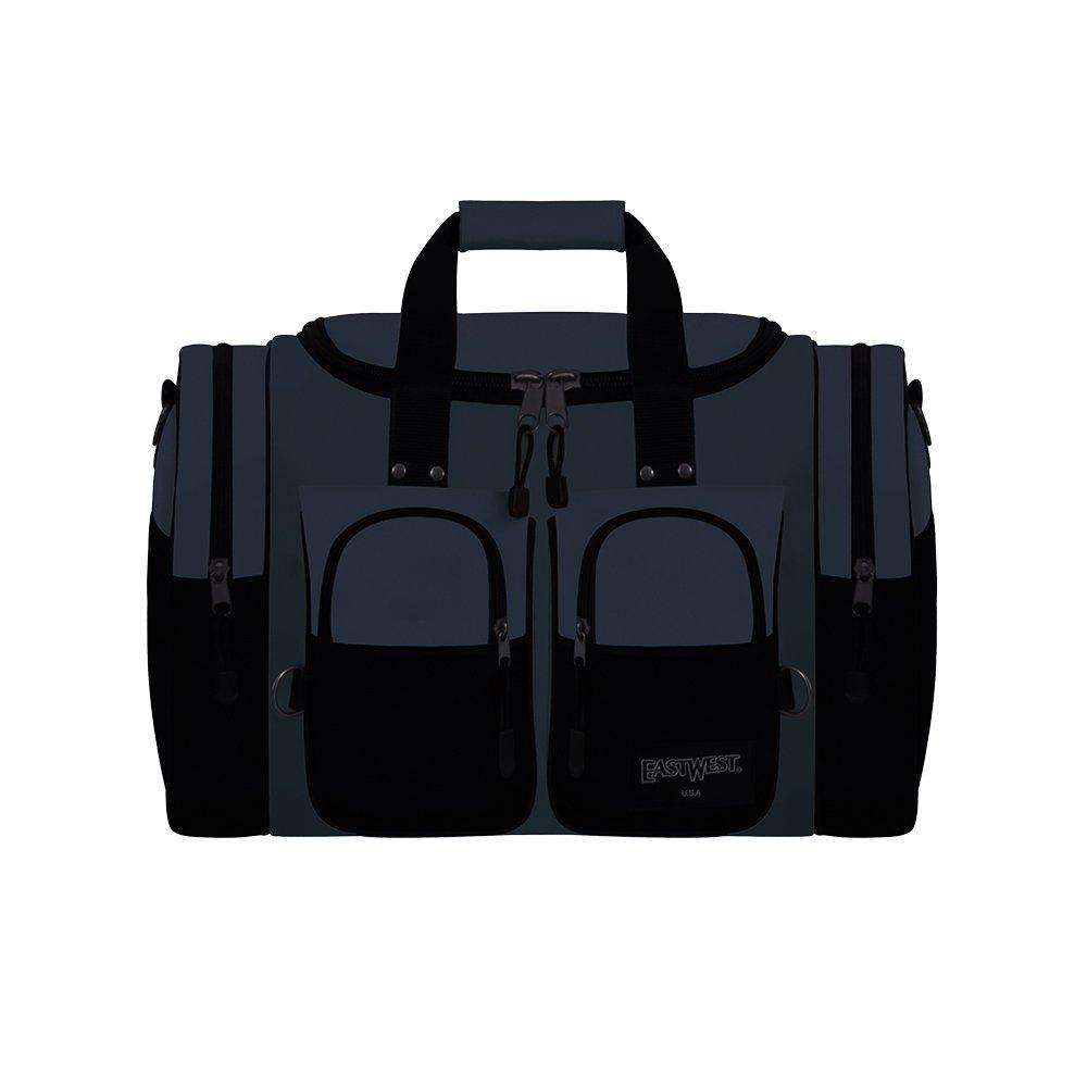 East West U.S.A. D3015 15 Sports Duffle Gym Travel Gear Bag, Black
