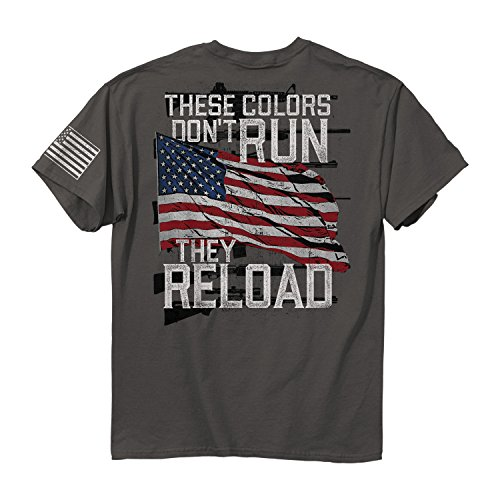 - Buck Wear Men's Colors Reload Cotton T-Shirt, Charcoal, X-Large
