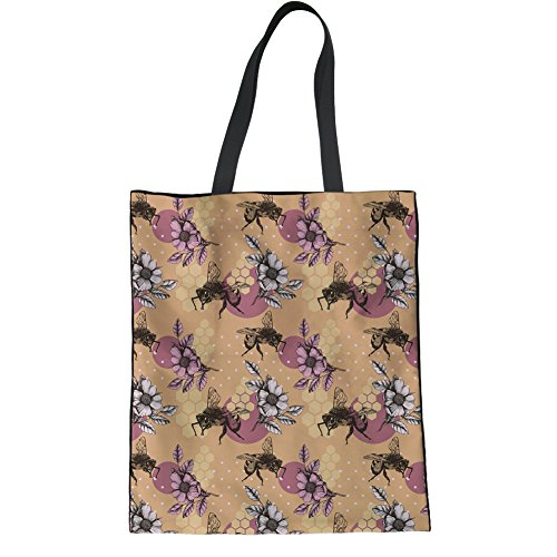 Sloth Tote Bag Hipster Handbag Bag Girl Butterfly2 Floral HUGS Teen Linen College Bag IDEA Casual Shoulder qxCpSEwT
