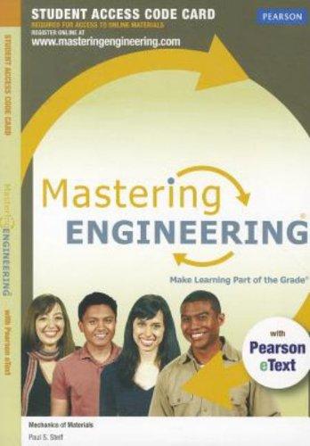 Engineering Mechanics Statics: Masteringengineering With Pearson Etext Student Access Code Card