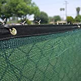 Clevr 6′ x 50′ Wind Privacy Screen Fence, Commercial Grade Fabric Mesh with Durable Grommets, Green | 1 YEAR LIMITED WARRANTY 140GSM