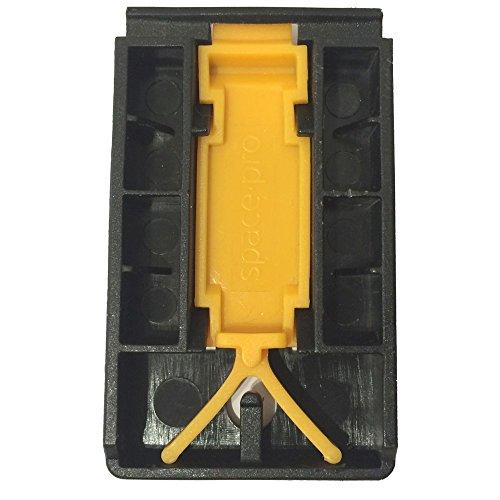 Sliding wardrobe door spares-iSpace Stanley Part 1603Y-1 Top Plastic Insert. (Nickle Door Kick Plate compare prices)