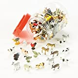 Mini Farm Animals Figurine 144 Pieces ,18 Assorted Styles High Quality Relastic Toys