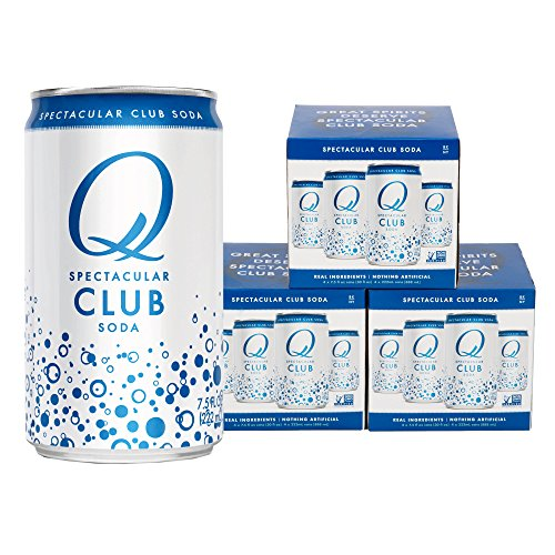 Club Soda Drink (Q Drinks, Q Club, Spectacular Club Soda, Premium Mixer, 7.5 Ounce Slim Can (Pack of 12))