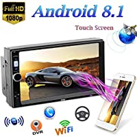 QLPP 2 DIN Android 8.1 Car MP5 Player con Pantalla táctil de 7 Pulgadas GPS Navi Mirror Link (iOS, Android) Radio FM WiFi Bluetooth Multimedia Reproductor de Video estéreo