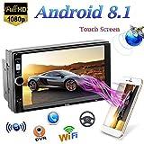 QLPP 2 DIN Android 8.1 Car MP5 Player con Pantalla táctil de 7 Pulgadas GPS Navi Mirror Link (iOS, Android) Radio FM WiFi Bluetooth Multimedia Reproductor de Video estéreo