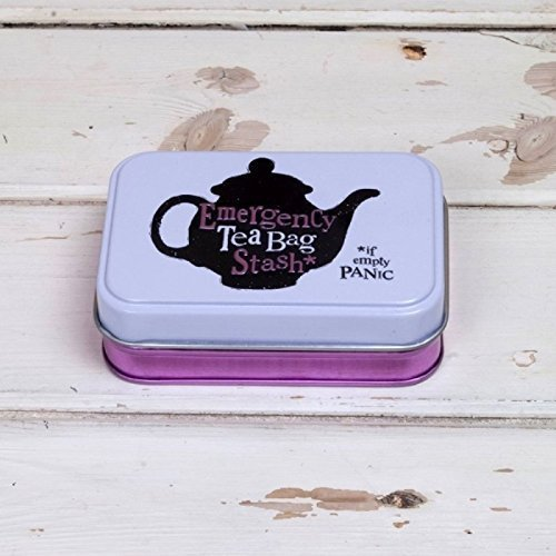 New Stash Tin - Emergency Tea Bag Stash Tin by The Bright Side (New Design)