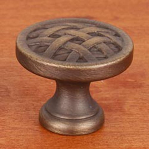 R.K. International CK 752 AE Rki - Antique English Small Cross-Hatched Knob