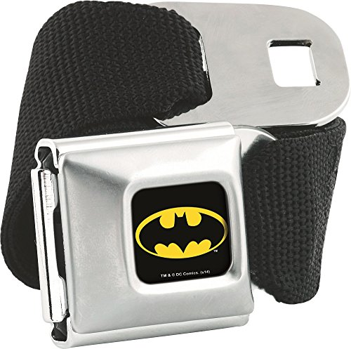 Batman Solid Black with Logo Buckle Seatbelt Belt (Catwoman From The Dark Knight Rises)