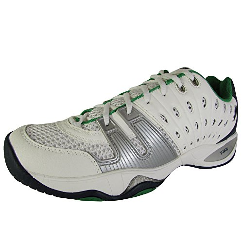 Prince Mens T22 Tennis Sneaker Shoes, White/Blue/Green, US 7