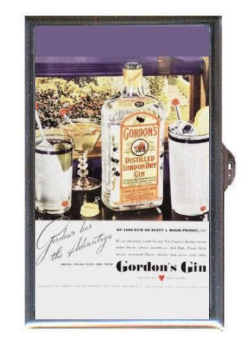 Gordon's Distilled London Dry Gin Retro Advertising Guitar Pick or Pill Box USA Made (Gordons London Dry Gin)