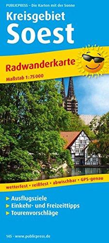 Soest (Kreisgebiet): Radwanderkarte mit Ausflugszielen, Einkehr- & Freizeittipps, wetterfest, reissfest, abwischbar, GPS-genau. 1:75000 (Radkarte / RK)