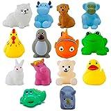 Urbanese Chu Chu Bath Toys (Set of 14 Animals)