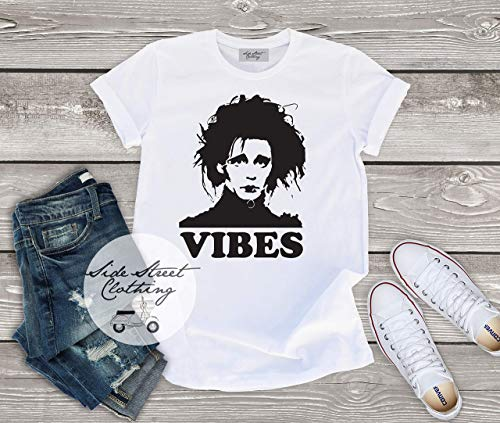(Iconic Movie ES Vibes T shirt - baby, toddler, youth, women, men, goth, gothic, me, halloween, punk, Tim burton, Johnny)