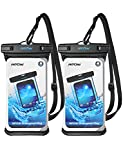 Mpow Waterproof Case, Waterproof Cellphone Dry Bag Full Transparency IPX8 Universal Phone Pouch