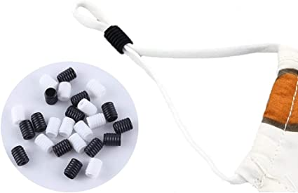 Non-Slip Cord Buckles Adjuster for Adult//Kids Silicone Toggles for Drawstrings Elastic Buckles Stopper Black 120 PCS Adjustment Cord Locks
