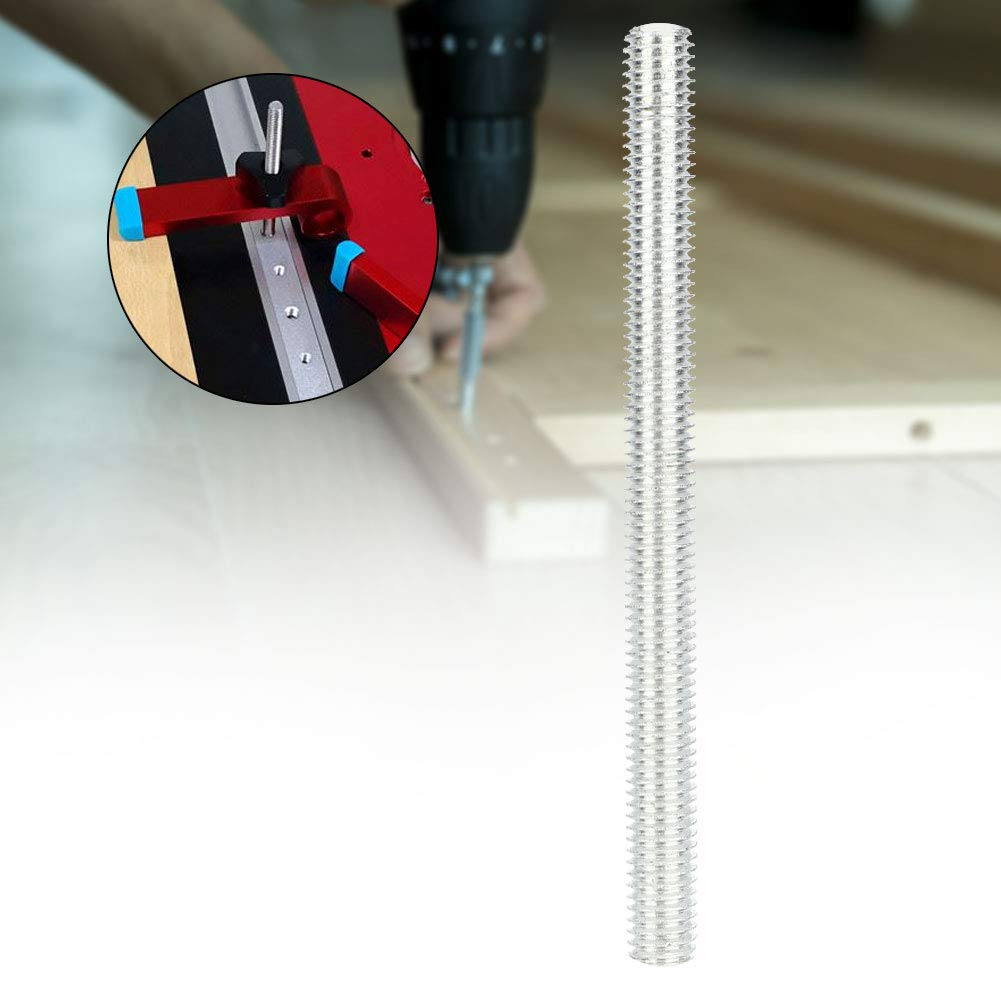 10pcs M8 Threaded Rod Bar,100mm Aluminum Alloy CNC Studs Fastener,3D Printer Part for Woodworking T-Sliders 30//45 Sliding Slot