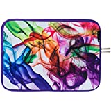 """Caseling Neoprene Sleeve Pouch Case Bag for 14"""" Inch Laptop Computer. Designed to fit any laptop / Notebook / Ultrabook / Macbook with Display size 14"""" inches. - Colorful/White"""