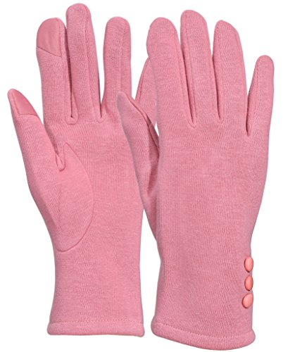 Womens Pink Glove (Beurlike Womens Touchscreen Texting Gloves Warm Lined Thick Winter Gloves (Pink))