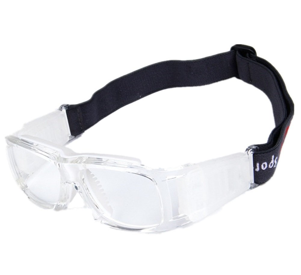 Kagogo Sports Goggles Protective Basketball Glasses Safety Goggles for Adults with Adjustable Strap for Basketball Football Volleyball Hockey Rugby (Transparent White001) by Kagogo (Image #1)