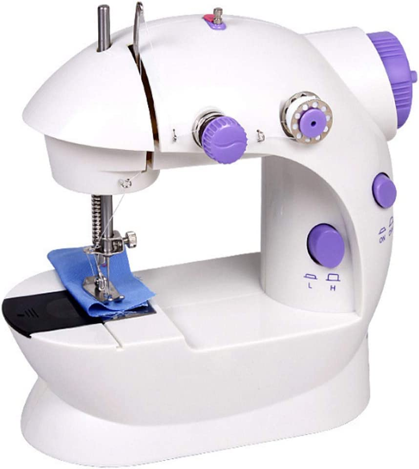 LEXPON Portable Mini Desktop Sewing Machine Double Speed Automatic Thread with Light