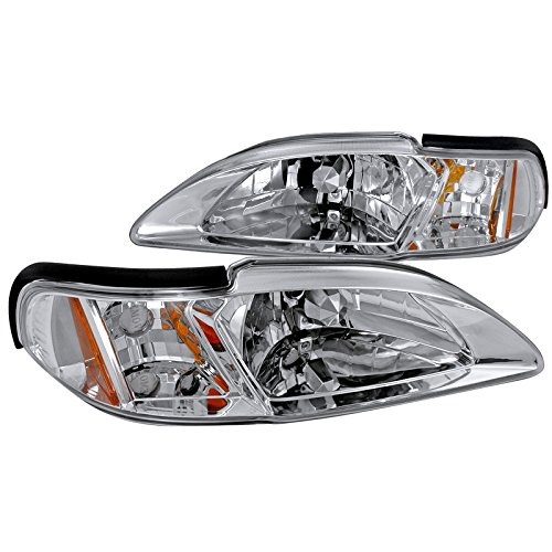 Spec-D Tuning 2LCLH-MST94-TM Chrome Headlight (Crystal Housing)