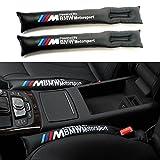 COGEEK Universal 2PCS Car Seat Gap Leakage for BMW M Spacer Leak Proof Joint Plug PU Leather Seat Gap Padding Cover Decoration (black)
