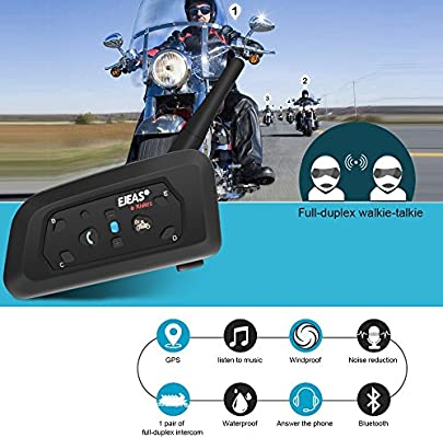 Amazon.com: ejeas V6 de la motocicleta intercomunicador ...