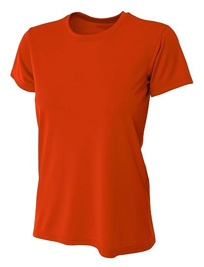 69dd4fc1b5ac A4 Women's Cooling Performance Crew Short Sleeve, Athletic Orange, X-Small