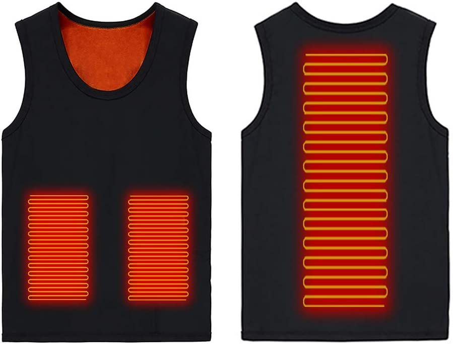 CALIDAKA Heated Vest, Adjustable Temperature Women Men Heated Warm Clothing Vest for Winter Outdoor Fishing Hiking Camping Heated Jacket Washable