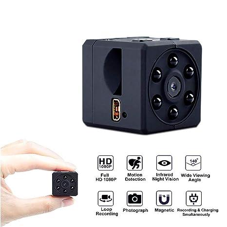 Haisito Portátil 1080P Full HD Mini Cámara Espía Oculto Infrarojos Visión Nocturna Nanny CAM Grabadora de