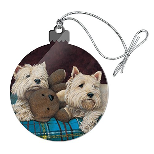 GRAPHICS & MORE Westie West Highland White Terrier Dogs Teddy Bear Acrylic Christmas Tree Holiday -