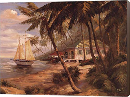 Bolo Key West Hideaway - Key West Hideaway by Enrique Bolo Canvas Art Wall Picture, Museum Wrapped with Brown Sides, 16 x 12 inches