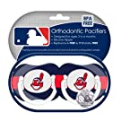 MLB Cleveland Indians Pacifiers, 2-Pack